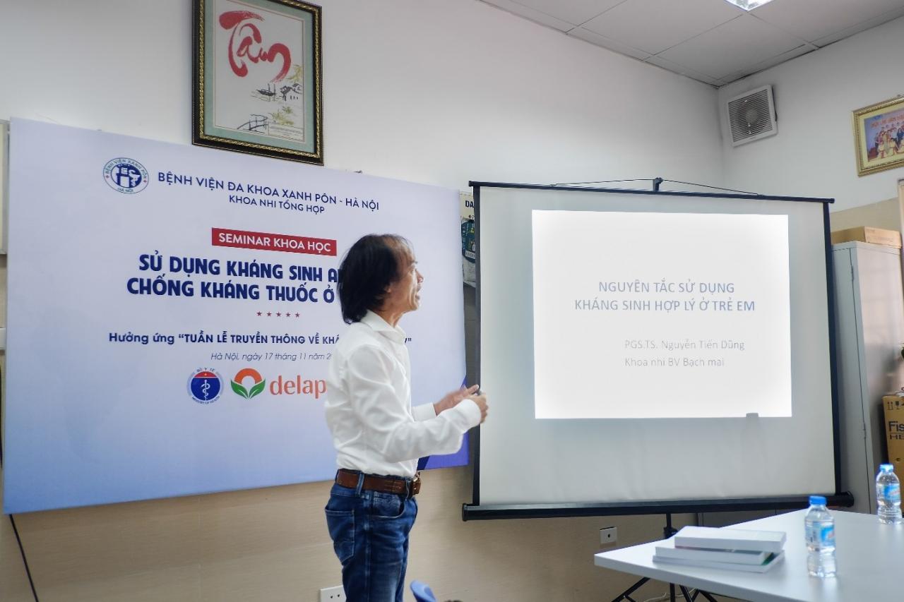 PGS.TS.BS Nguyễn Tiến Dũng đúc kết những nguyên tắc trong sử dụng kháng sinh