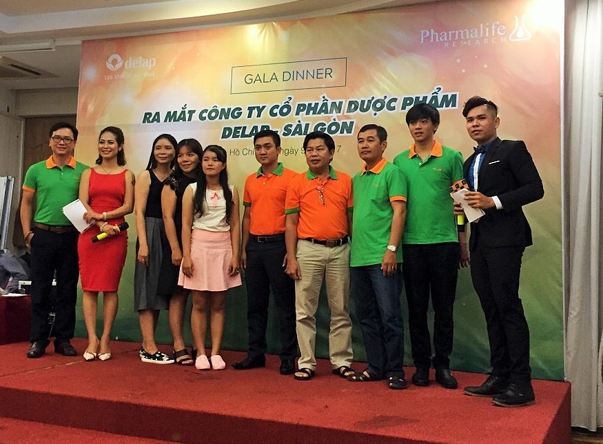 Cán bộ nhân viên Delap TP. HCM tại buổi lễ thành lập công ty.