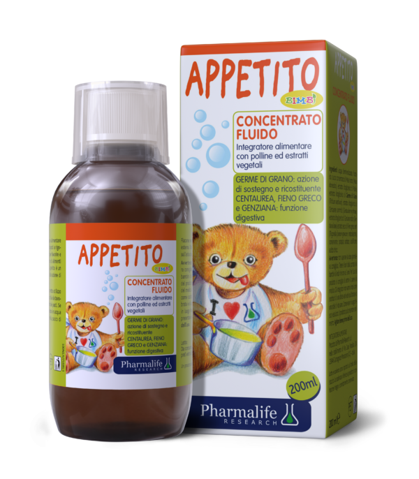 Appetito Bimbi - Siro ăn ngon 3 tác động từ thảo dược chuẩn hóa châu Âu