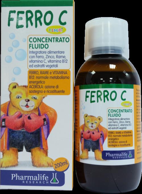 Ferro C Bimbi - Siro thảo dược chuẩn hóa châu Âu bổ sung sắt cho trẻ