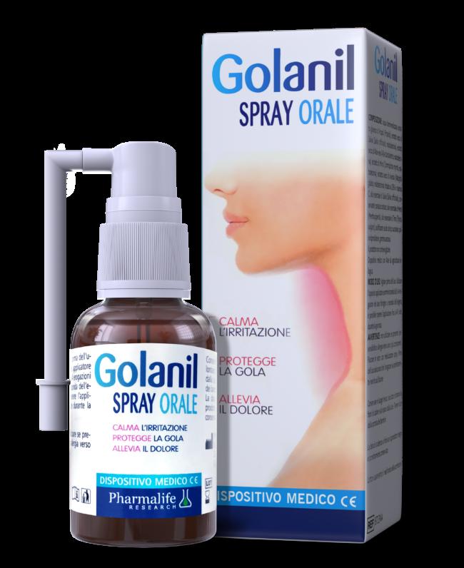 Golanil Spray Orale - Xịt họng từ thảo dược chuẩn hóa Châu Âu giúp giảm ho, thông họng tức thì