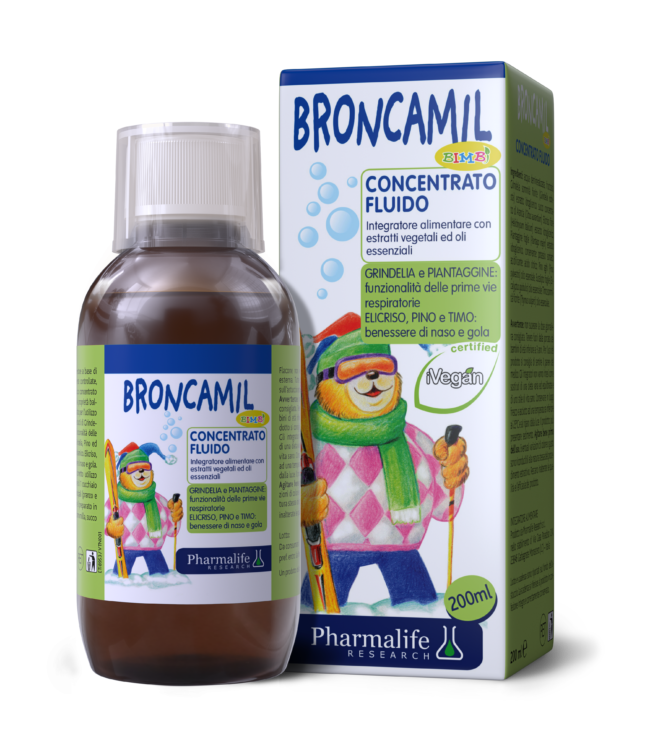 Broncamil Bimbi - Siro thảo dược chuẩn hóa châu Âu giảm ho 3 trong 1
