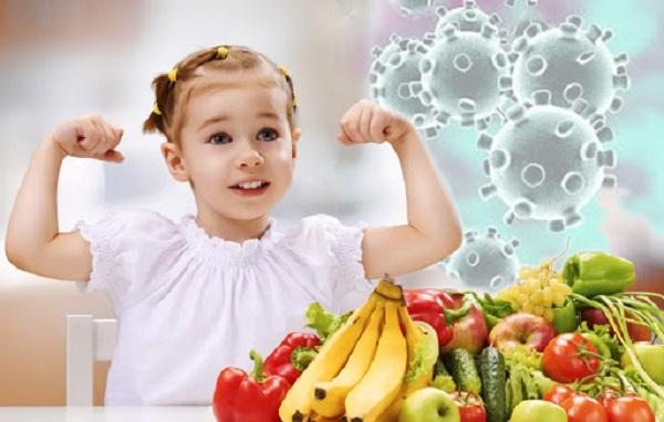 Hệ miễn dịch tốt giúp trẻ khỏe mạnh.