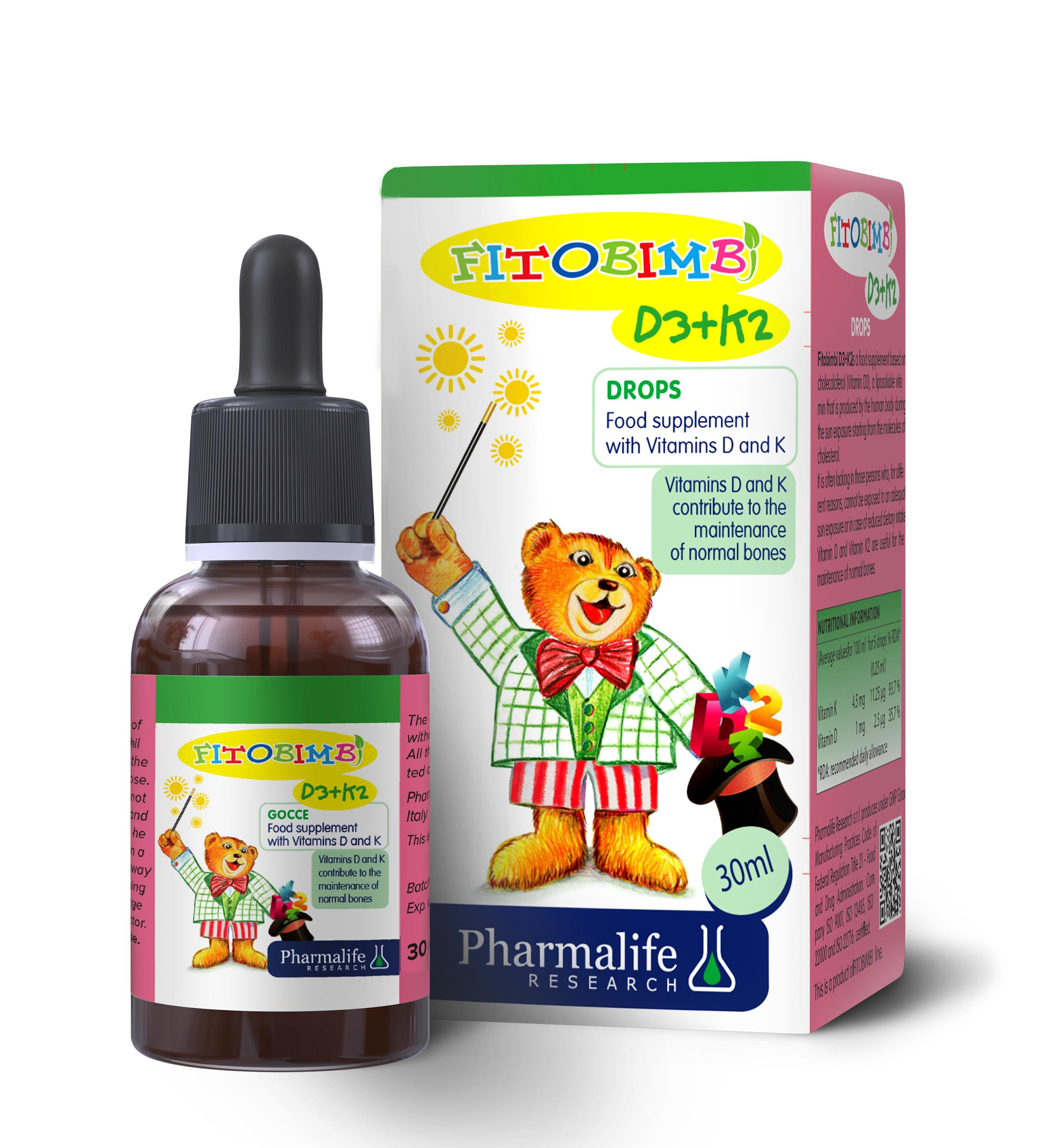 Fitobimbi D3+K2 - Xương răng thêm chắc khỏe, bớt lo trẻ còi xương