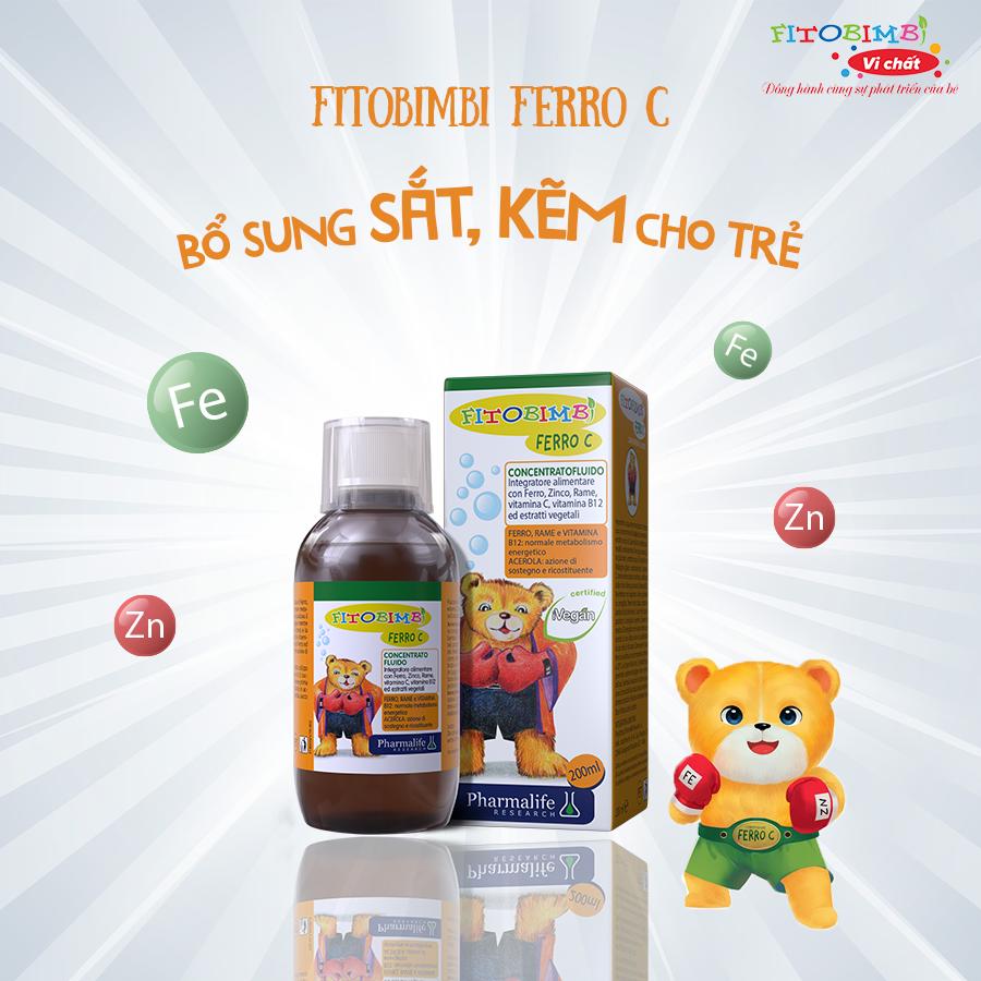 Fitobimbi Ferro C - Bổ sung sắt, kẽm cho trẻ