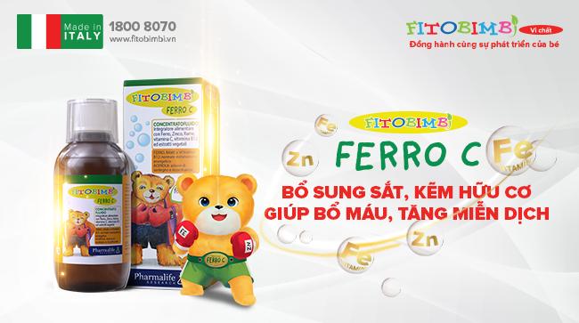 Fitobimbi Ferro C - Bổ sung sắt, kẽm hữu cơ cho trẻ