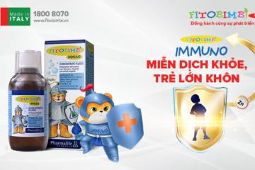 Fitobimbi Immuno – Tăng Cường Đề Kháng Khỏe, Giúp Giảm Bệnh Đường Hô Hấp, Giảm Ốm Vặt